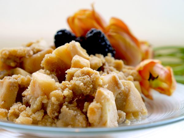 Gluten Free Vegan Apple Pear or Berry Crisp